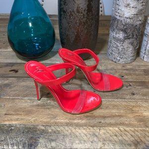 f955760299ef6 Giuseppe Zanotti Shoes - Giuseppe Zanotti Ali 90 Patent Perspex Sandals